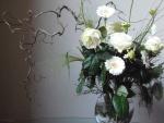 symbolisch bloemschikken wit